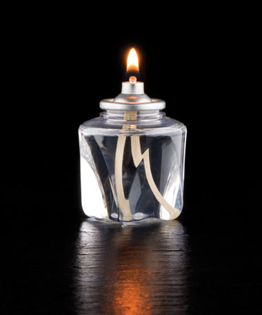 18 Hour Disposable Clear Plastic Liquid Candle w/Square Bottom - 48/CS