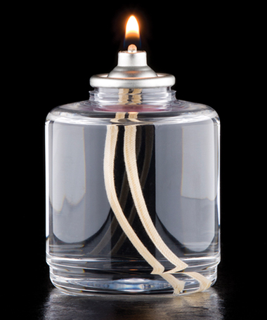 50 Hour Disposable Clear Plastic Liquid Candle - 48/CS