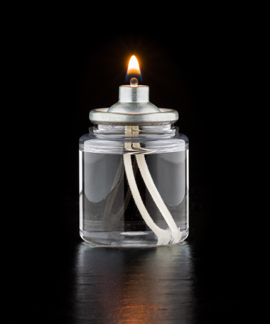 12 Hour Tall Disposable Clear Plastic Liquid Candle - 144/CS