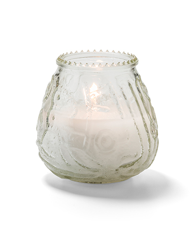 Clear Knobby Candle 60-Hours