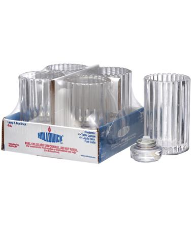 Clear Vertical Rod Glass Lamp Shelf Pack w/HD12 - 4/Pack