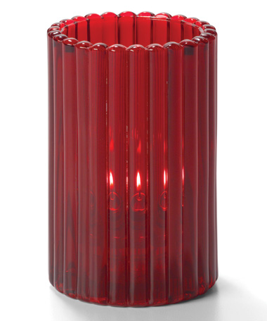 Ruby Vertical Rod Glass Cylinder Lamp