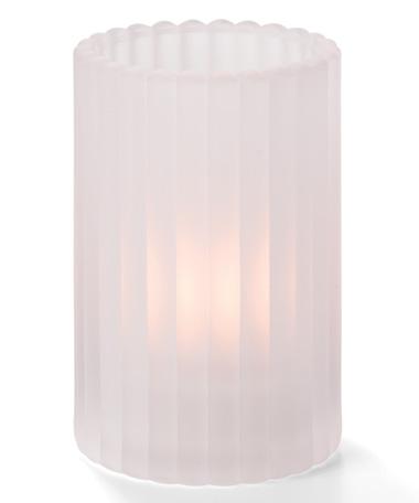 Satin Crystal Vertical Rod Glass Cylinder Lamp