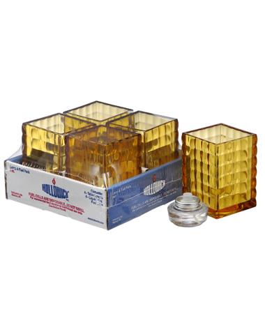 Amber Optic Block™ Glass Lamp Shelf Pack W/HD12 - 4/Pack