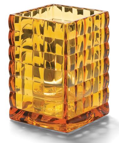 Amber Optic Block™ Glass Lamp