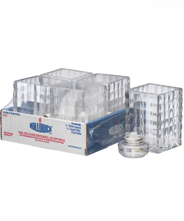 Clear Optic Block™ Glass Lamp Shelf Pack W/HD12 - 4/Pack