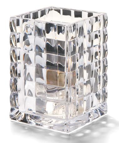 Clear Optic Block™ Glass Lamp