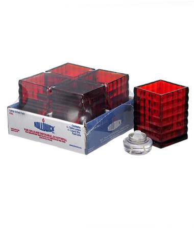 Ruby Optic Block™ Glass Lamp Shelf Pack W/HD12 - 4/Pack