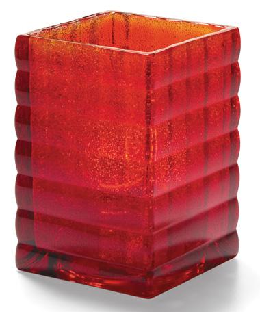 Ruby Jewel Optic Block™ Glass Lamp