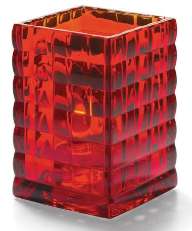 Ruby Optic Block™ Glass Lamp