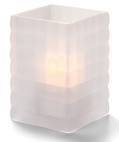Satin Crystal Optic Block™ Glass Lamp