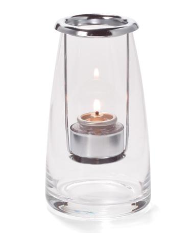 Clear Short Light House™ Glass Tealight Lamp