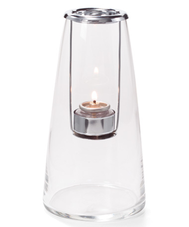 Clear Tall Lighthouse™ Glass Tealight Lamp