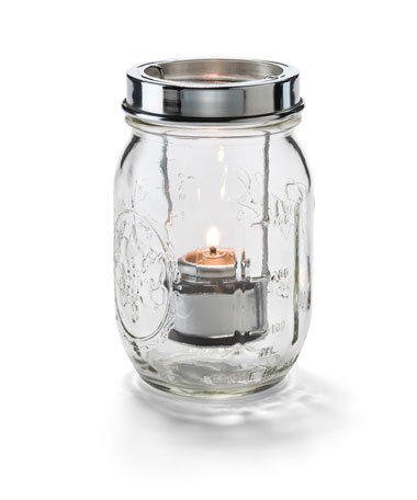 Clear Firefly™ Jar with Tealight Cradle