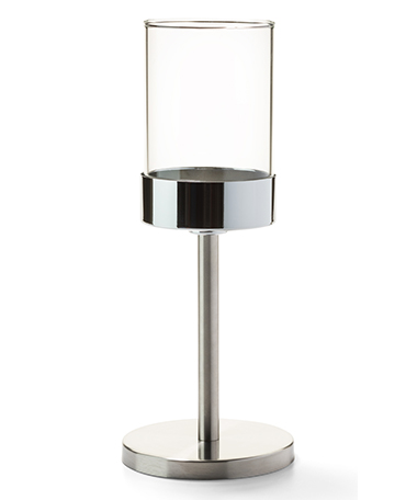 Brushed Stainless Steel Mod™ Candlestick Base