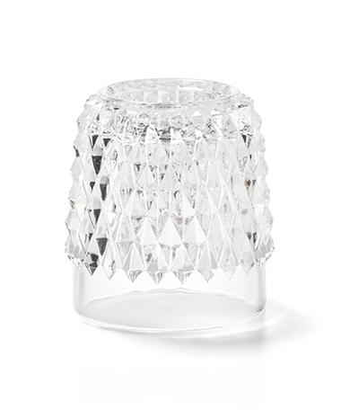 Clear Diamond Point Glass Globe