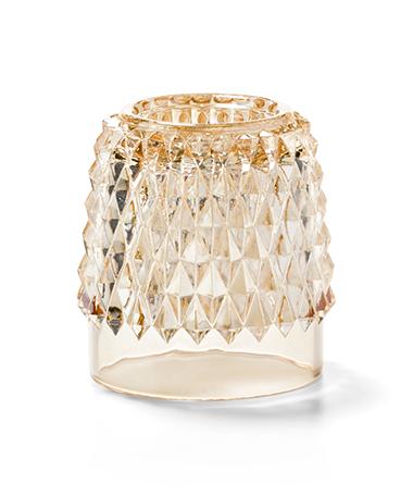 Gold Diamond Point Glass Globe