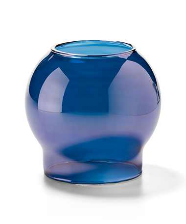 Blue Lustre Bubble Glass Globe