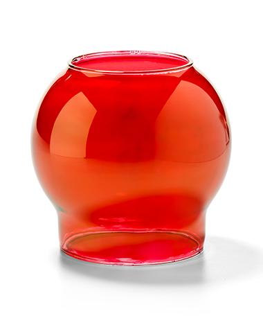 Ruby Lustre Bubble Glass Globe