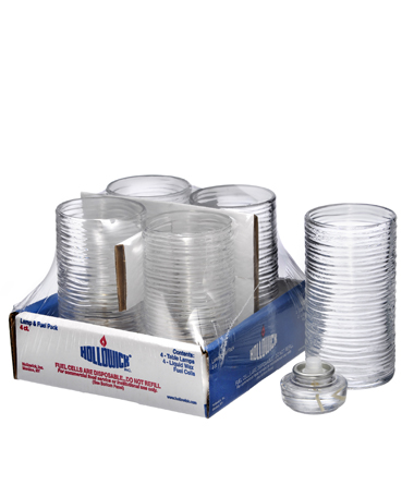 Clear Typhoon™ Mid-Size Cylinder Lamp Shelf Pack w/HD12 - 4/Pack