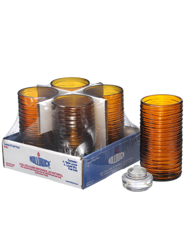 Amber Typhoon™ Mid-Size Cylinder Lamp Shelf Pack w/HD12 - 4/Pack