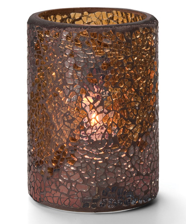 Gold Crackle™ Glass Cylinder Lamp
