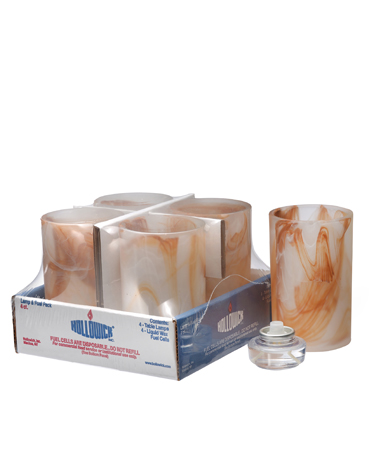 Caramel Wysp™ Cylinder Glass Lamp Shelf Pack W/HD12 - 4/Pack
