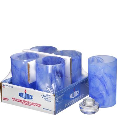 Dark Blue Wysp™ Cylinder Glass Lamp Shelf Pack W/HD12 - 4/Pack