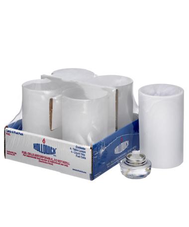 Satin Crystal Wysp™ Cylinder Glass Lamp Shelf Pack W/HD12 - 4/Pack