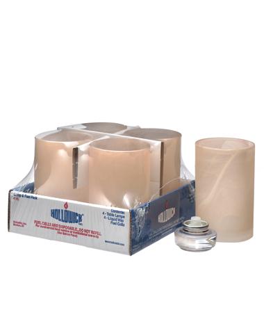 Amber Satin Wysp™ Cylinder Lamp Shelf Pack W/HD12 - 4/Pack