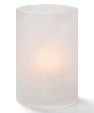 Satin Crystal Wysp™ Cylinder Glass Lamp