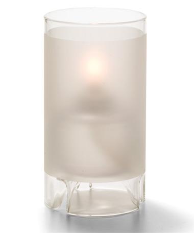Satin Crystal Large Glass Cylinder Lamp