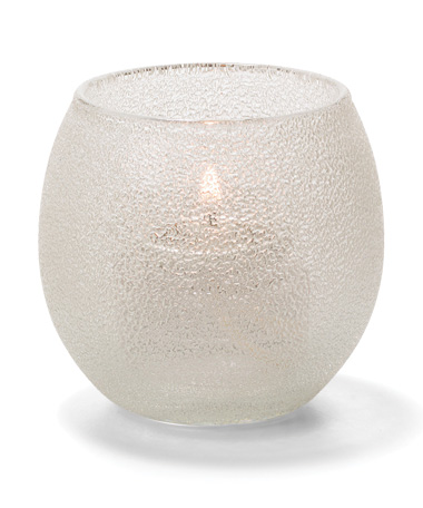 Cear Ice, Small Glass Bubble Tealight Lamp