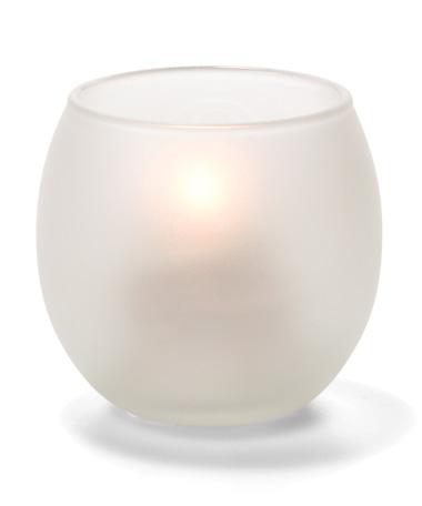 Satin Crystal, Small Glass Bubble Tealight Lamp