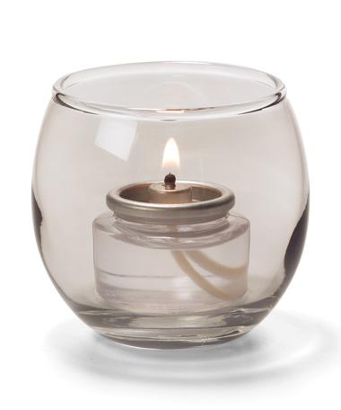 Smoke Lustre, Small Glass Bubble Tealight Lamp