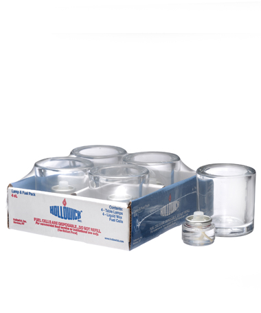 Clear Round Glass Thick Tealight Lamp Shelf Pack w/HD8 - 4/Pack