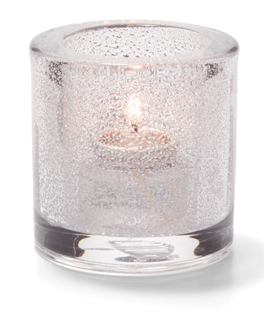Clear Jewel, Round Thick Glass Tealight Lamp