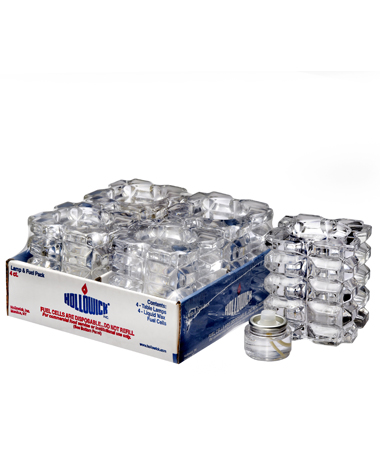 Clear Faceted Cube Glass Votive Lamp Shelf Pack w/HD8 - 4/Pack