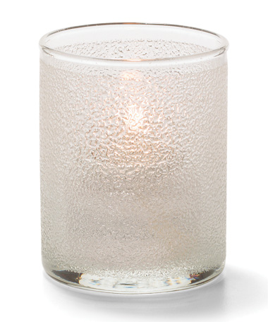 Clear Ice, Tealight Glass Cylinder Lamp