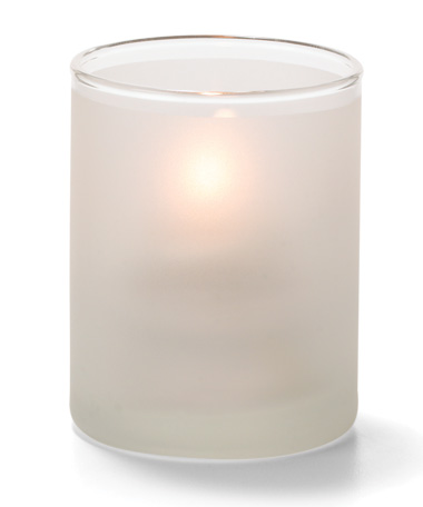 Satin Crystal, Tealight Glass Cylinder Lamp