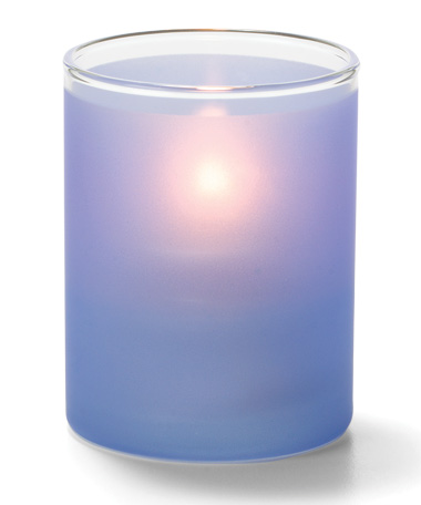 Satin Dark Blue, Tealight Glass Cylinder Lamp