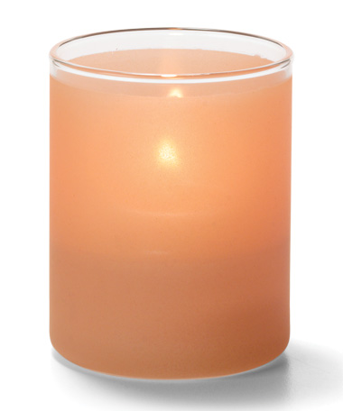 Satin Terra Cotta, Tealight Glass Cylinder Lamp