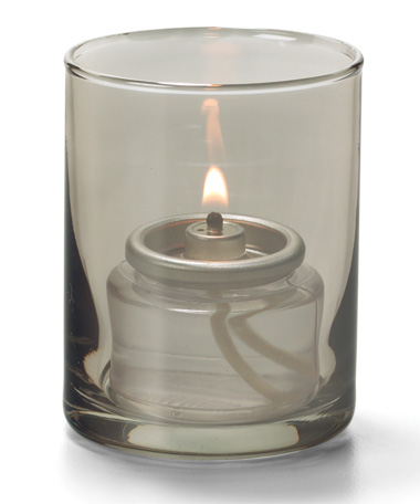 Smoke Lustre, Tealight Glass Cylinder Lamp
