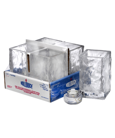 Glacier ™ Tealight (Clear Glass) Cylinder Lamp Shelf Pack w/HD8 - 4/Pack