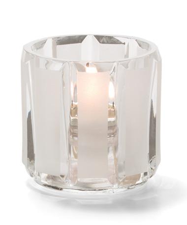 Crystal & Satin Glass Tealight Lamp