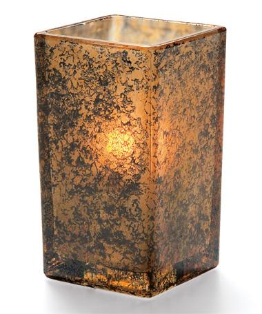 Antique Gold Quad™ Glass Votive Lamp