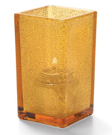 Amber Jewel Quad™ Glass Votive Lamp