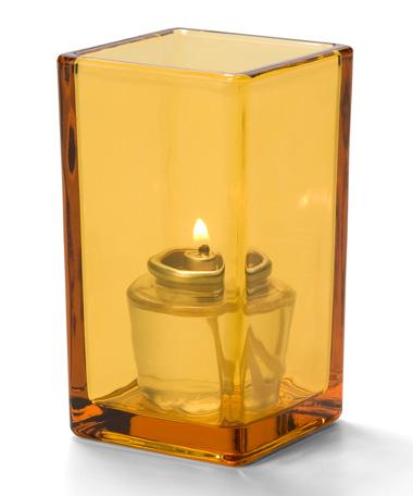Amber-Quad™ Glass Votive Lamp