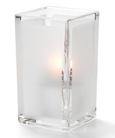 Clear Satin Panel-Quad™ Glass Votive Lamp