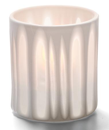 White Stripes Boutique™ Porcelain Votive Lamp